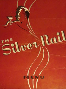 Image of the Silver Rail menu cover